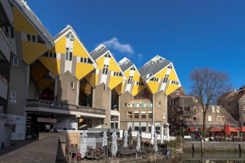 Visit the yellow Cube Houses