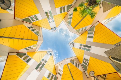 Visit the famous yellow Cube Houses